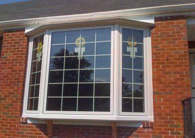 White Bay Window on Brick House