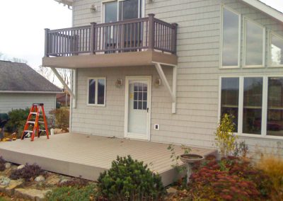 Decks on Tan-Siding House