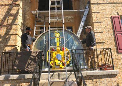 Window Installation Over Front Door