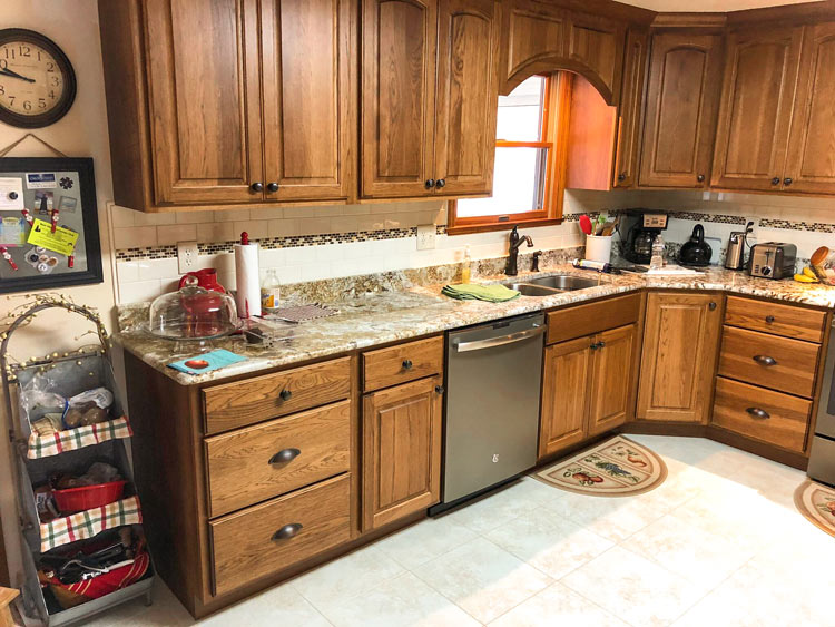 light brown kitchen cabinetry